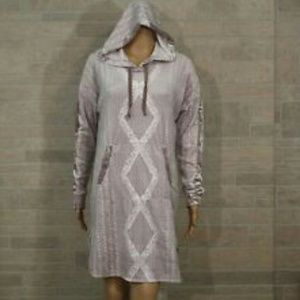 Vera Wang Velour Hooded Sleepshirt
